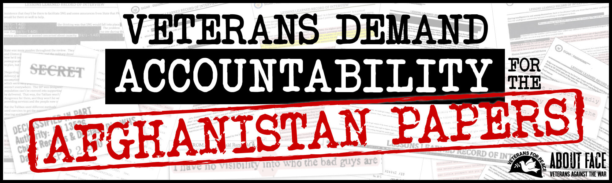 Veterans Demand Accountability for Revelations in Afghanistan Papers