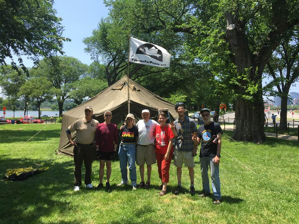 Veterans For Peace Members at Swords to Plowshares Memorial in Washington D.C.