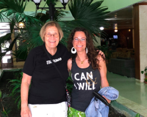 Monisha Rios and Ann Wright in Cuba