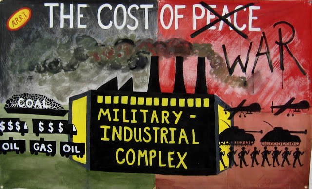Graphic that shows the Cost of War and the Military Industrial Complex