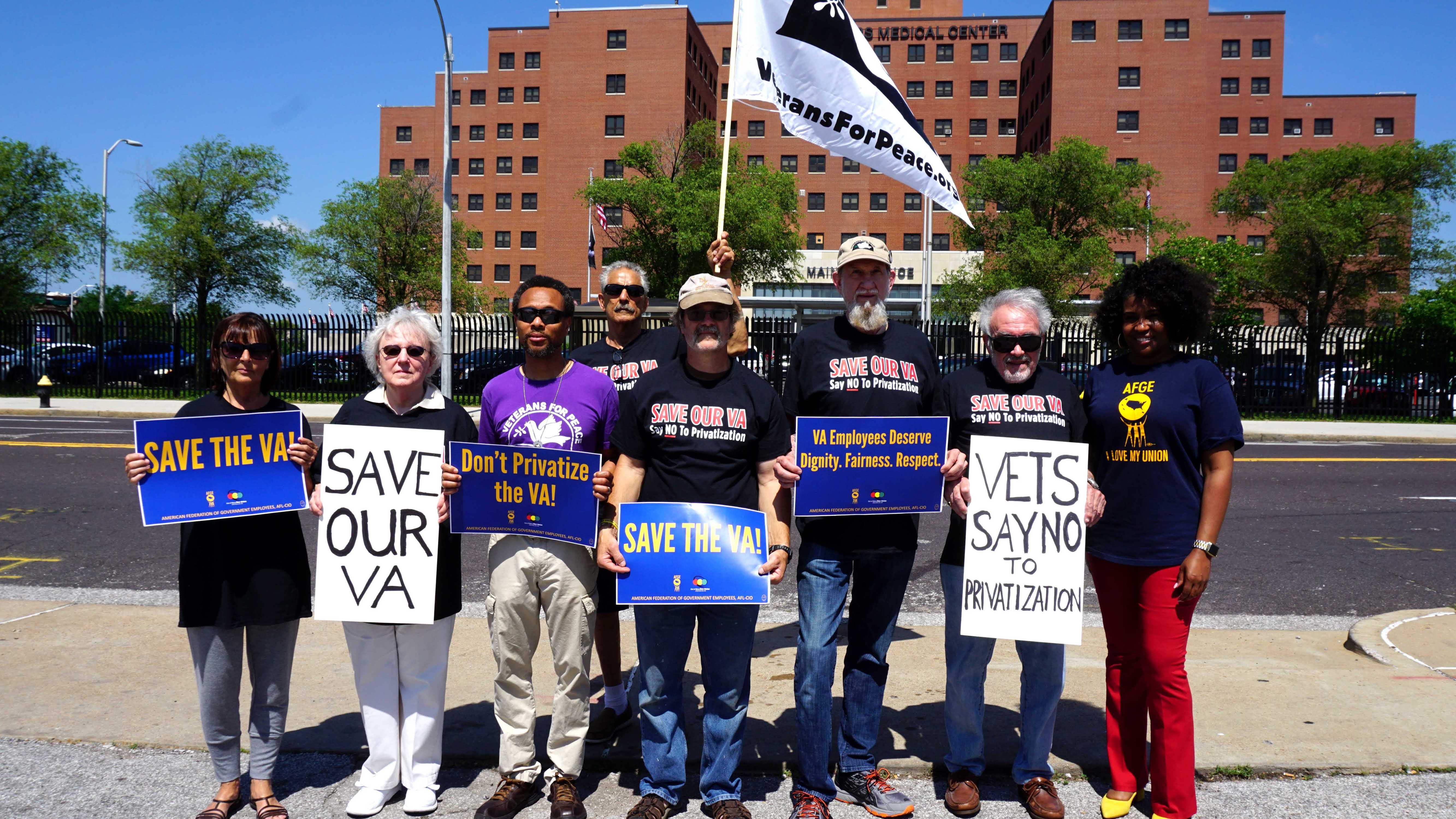 VFP members in St. Louis at the national days of action to Save Our VA